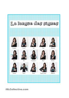 One-click print document Sign Language Phrases, Sign Language Interpreter, Learn Sign Language, Baby Sign Language, Autism Education, Education Positive, British Sign Language, Foreign Language, French Signs