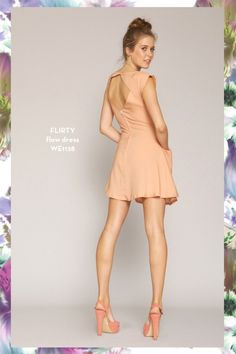 Flirty Flow dress. SHOP www.whitneyeve.com