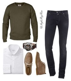 """""""Untitled #174"""" by stylebyria ❤ liked on Polyvore featuring Fjällräven, Jacob Cohёn, Hush Puppies, men's fashion and menswear"""