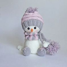 Снеговик амигуруми