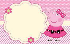 Miss Peppa Pig - Mini Kit Festa Infantil! Invitacion Peppa Pig, Cumple Peppa Pig, Peppa Pig Imagenes, Peppa Pig Printables, Peppa Pig Birthday Invitations, Aniversario Peppa Pig, Certificate Design Template, Pig Party, Party Decoration