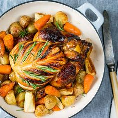 Caramelized Honey-Lime Chicken with Roasted Winter Veggies - Clean Food Crush