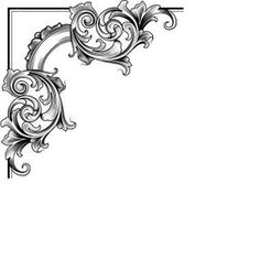 Decorative Corner Free Images At Clker Com Vector Clip Art Online Filigrana Tattoo, Motif Arabesque, Molduras Vintage, Decoupage, Image Deco, Page Borders, Carving Designs, Graphics Fairy, Scroll Design