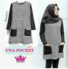 Baju dress una pocket blouse bahan spandek uk all size fit L harga grosir   55rb b2035264c2