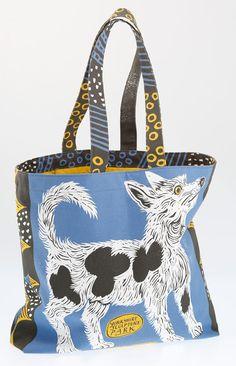 """Feste Dog"" printed bag by Mark Hearld"