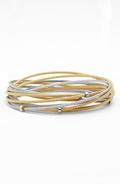 Free shipping and returns on ALOR® Interlocked Cable Bracelet Set at Nordstrom.com. Interlocked bangles create a stacked look in a modern, mixed-metal set embellished with handcrafted stations of 18-karat gold.