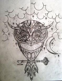 Sugar Owl Tattoo Design Picture 1