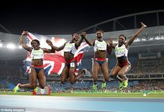 (From L-R) Asha Philip, Desiree Henry, Dina Asher-Smith and Daryll Neita…