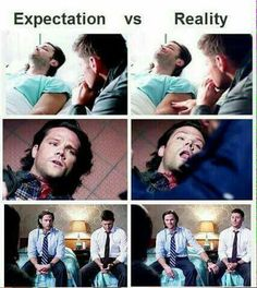 Oh gosh. The actual scenes VS the gag reel.