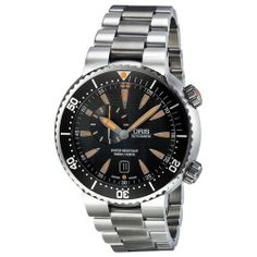 Oris Divers Small Second Date Mens Watch 743-7609-8454MB Oris. $1265.00. Steel Bracelet Strap. Round Stainless Steel Case. Date. Water Resistance : 50 ATM / 500 meters / 1650 feet. Automatic Calibre 743, Base SW 220