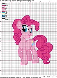 Pinkie Pie Cross Stitch Pattern, FREE :-) my-little-pony-friendship-is-magic Cross Stitch For Kids, Cross Stitch Baby, Cross Stitch Charts, Cross Stitch Designs, Cross Stitch Patterns, Cross Stitching, Cross Stitch Embroidery, Embroidery Patterns, Little Poney