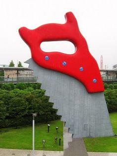 The Giant Sculptures of Claes Oldenburg - Saw, Sawing - Tokyo International Exhibition Center, Big Sight, Tokyo, Japan