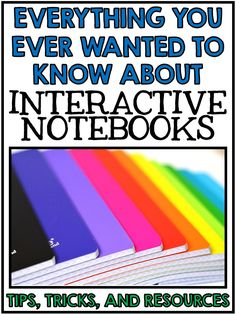 Interactive Reading Notebooks - Tips for Setting them up in your classroom! Science Room, Science Classroom, Science Education, History Education, Classroom Ideas, Teaching History, Physical Science, Earth Science, Science Experiments