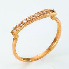 18K yellow gold $650  0.07carat (total) diamond  1.5 mm (width)  in stock: size 6  satomi kawakita