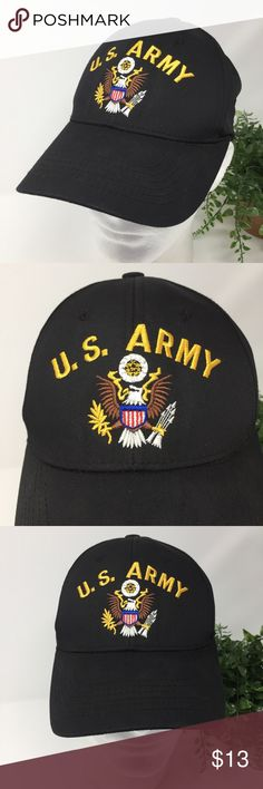 US Army Black Baseball Hat Captivating Headgear OS This listing is for a US Army Black Baseball Hat Captivating Headgear OS  Comes from a smoke free and pet free environment. Hat will be shipped in a box to prevent it from from getting crushed. Captivating Headgear Accessories Hats