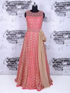 Shop Anarkali suit in designer magenta color online from G3fashion India. Brand - G3, Product code - G3-WSS24169, Price - 7795, Color - Magenta, Fabric - Net,
