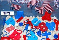 Patriotic sensory bin