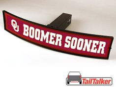 Oklahoma Boomer Sooner Trailer Hitch Cover Illuminated NCAA Officially Licensed by tailtalker on Etsy