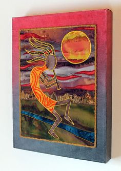 Kokopelli Native American Southwest art Art quilt by JPGstudio2536, $120.00
