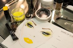 Pin for Later: Tinker Bell Gets a Punked-Out Makeover For Halloween The Inspiration Here's a look at the face chart Make Up For Ever created just for POPSUGAR Beauty!