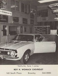 Chevy Dealer promo post card with '67 Camaro