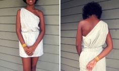 Tutorial: Greek style top and skirt from a maxi dress · Sewing | CraftGossip.com