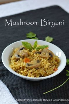 Flavorful one pot meal with mushroom as the star ingredient.