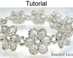 Jewelry Making Beading Pattern Tutorial - Beaded Bracelet - Beaded Flowers - Simple Bead Patterns - Beaded Lace #471