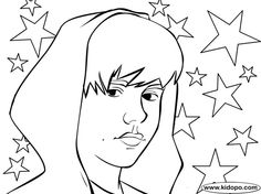 justin bieber coloring page
