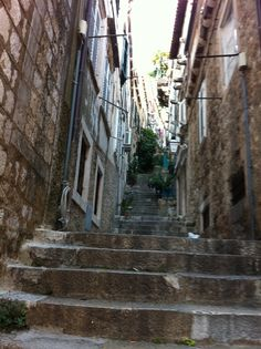 Famous steps in Dubrovnik