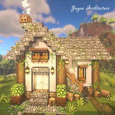 Minecraft House Plans, Minecraft Farm, Minecraft Cottage, Easy Minecraft Houses, Minecraft Construction, Amazing Minecraft, Minecraft Blueprints, Minecraft Creations, Minecraft Projects
