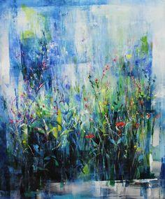 Canvas on acrylic