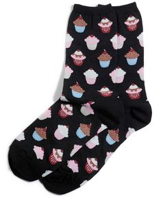 Footwear with flair. Accent your outfit with these adorable trouser socks from Hot Sox that are decked out in an array of adorable prints. Wear a different design every day and make a statement with every step. Funky Socks, Crazy Socks, Odd Socks, Women's Socks, Knee Socks, Fall Socks, Trouser Socks, Custom Socks, Printed Trousers