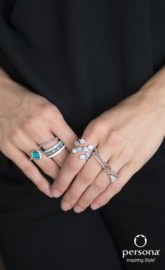 Celebrate the Art of Stacking! Create the illusion of a single chunky ring by stacking multiple rings on one finger. The best part – the options are endless and you'll have a ring that no one else has! 💍💕 www.personaworld.com