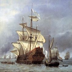The Taking of the English Flagship The Royal Prince by Willem Van De Velde