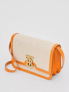 Kleine TB Bag in Zweitonoptik aus Canvas und Leder (Orange) - Damen | Burberry