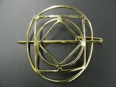 Vintage handmade brass pony tail hair clip by aprilsunrises