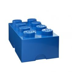 Boîte de rangement 8 plots bleue - Lego