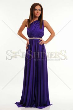 Rochie Ana Radu City Glance Purple Prom Dresses, Formal Dresses, One Shoulder, Purple, Clothes, Shopping, Fashion, Dresses For Formal, Outfits