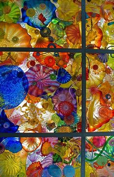 Chihuly Bridge of Glass in Tacoma | the Dale Chihuly glass in the Seaform Pavilion on the bridge of glass ...