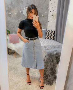 Classy Outfits, Beautiful Outfits, Cool Outfits, Casual Outfits, Skirt Outfits Modest, Pencil Skirt Outfits, Church Outfits, College Outfits, Modest Fashion