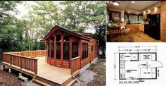 Log cabins are already awesome enough, imagine one on wheels that can be moved wherever it needs to  ...
