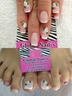 Cute Spring Nails, French Pedicure, Beautiful Nail Art, Trendy Nails, Manicure, Nail Designs, Hair Beauty, Toenails, Nail Arts