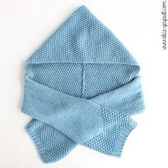 Echarpe-capuche pour enfant au tricot, DIY par Alice Gerfault Hooded Scarf, Alice, Hoods, Mini, Winter Hats, Baby Boy, Knitting, Children, Bonnets
