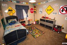 Fun Boys Car and Transportation bedroom