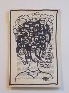 "Saatchi Art Artist Dave Ortiz; Drawing, ""Law Journals Series ""Head Of Letter"""" #art"