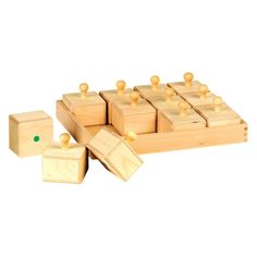 Guidecraft. Sound Boxes. Affordable wood versions for Montessori or Waldorf.