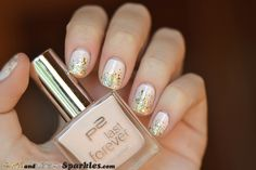 Inspiration on Last Forever Nail Polish - 130 Lovely Moment by MissRux Rux. Check out more Nails on Bellashoot. Love Nails, My Nails, Glitter Nails, Gold Glitter, Small Figurines, Pretty Hands, Beauty Hacks, Beauty Tips, Nails Inspiration