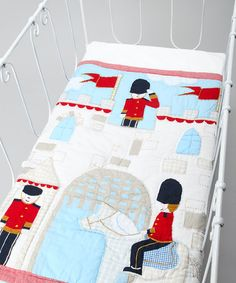 Solider Patchwork Cot Quilt by Powell Craft Nursery on today! Cot Quilt, Quilts, Little Boys Rooms, Powell Craft, Niece And Nephew, Kid Spaces, Baby Sewing, Kids Decor, Boy Room