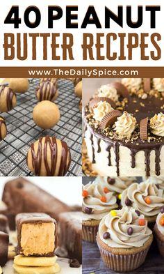 Peanut Butter Dessert Recipes, Sugar Free Desserts, Homemade Desserts, Just Desserts, Reese's Recipes, Bake Sale Recipes, Sweet Recipes, Butter Frosting, Cooking